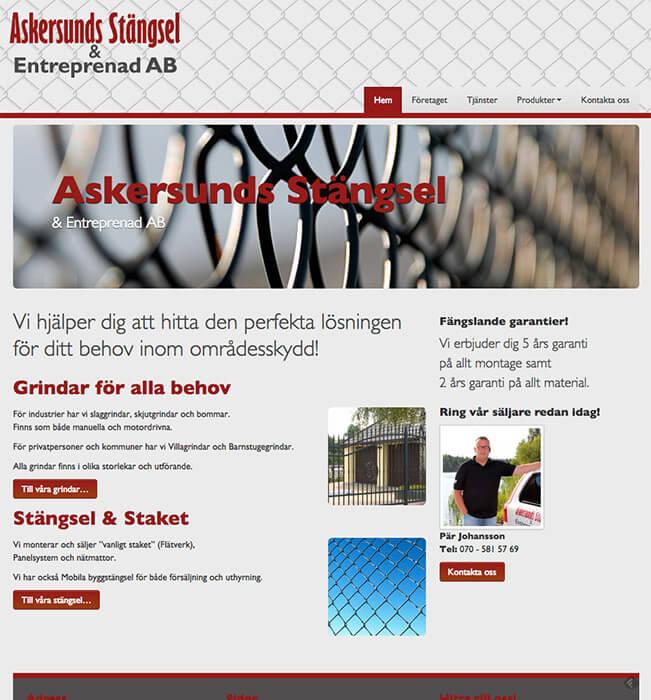 Askersundsstängsel - Mobilanpassad hemsida