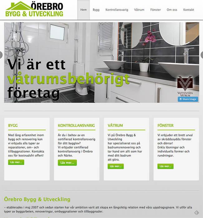 Örebro Bygg & Utveckling - Hemsida