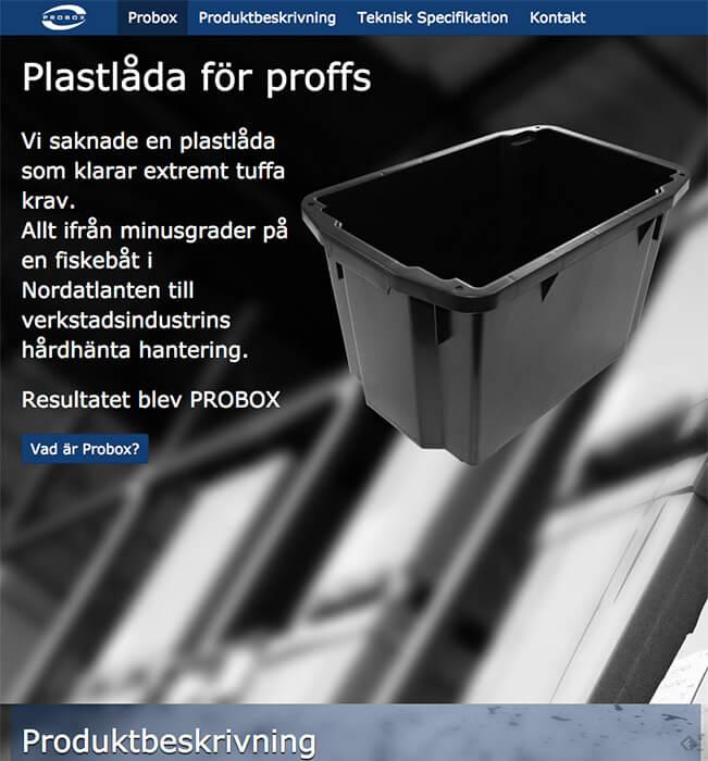 Probox - Hemsida för Euroforms produkt